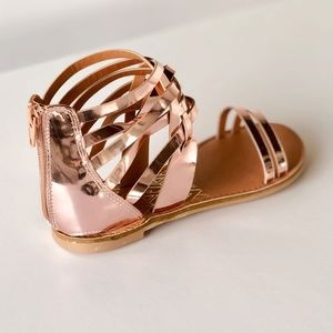 c1c7a3a2edea35 Qupid Shoes - Qupid  Athena  Strappy Gladiator Sandals Rose Gold
